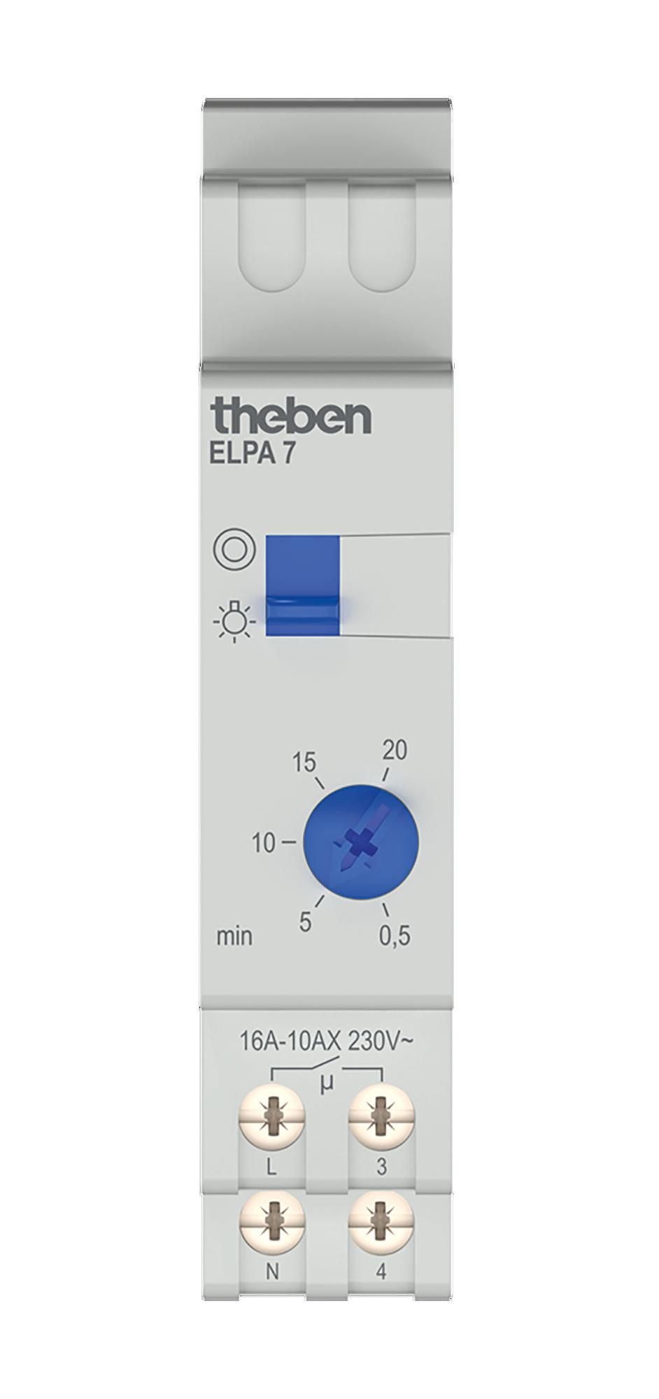 Theben ELPA 87 0870002 Interrupteur pour /éclairage descalier rail DIN /électrom/écanique minuterie